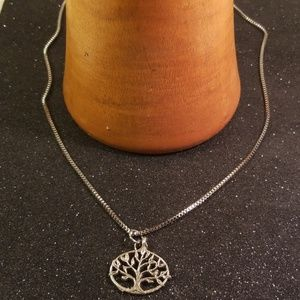 Other - Antique silver tree of life charm necklace